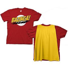 The Big Bang Theory (TV) - Bazinga With Cape Red T-Shirt