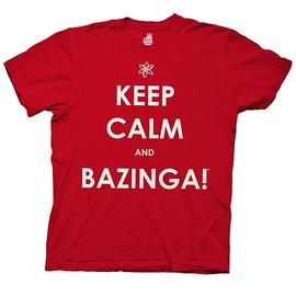 The Big Bang Theory (TV) - Keep Calm and Bazinga Red T-Shirt