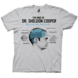 The Big Bang Theory (TV) - Mind of Dr. Cooper Gray T-Shirt