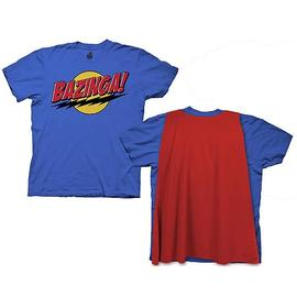 The Big Bang Theory (TV) - Blue Bazinga T-Shirt with Red Cape