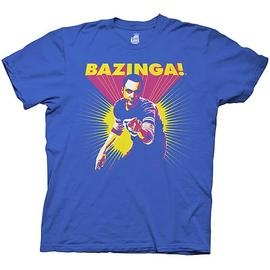 The Big Bang Theory (TV) - Bazinga! Sheldon Posterized Blue T-Shirt