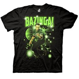 The Big Bang Theory (TV) - Sheldon Bazinga! Stars Black T-Shirt
