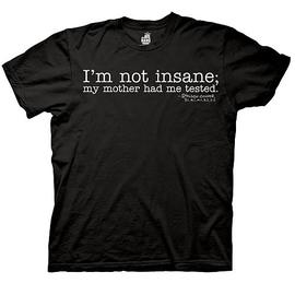 The Big Bang Theory (TV) - I'm Not Insane Black T-Shirt