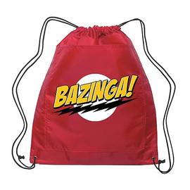 The Big Bang Theory (TV) - Bazinga! Red Drawstring Bag