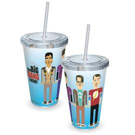 The Big Bang Theory (TV) - Pixelated Cast Acrylic Travel Cup