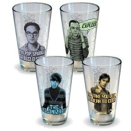 The Big Bang Theory (TV) - The Characters Pint Glass 4-Pack