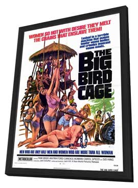 Big Bird Cage - 11 x 17 Movie Poster - Style A - in Deluxe Wood Frame