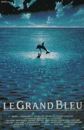The Big Blue - 11 x 17 Movie Poster - French Style B
