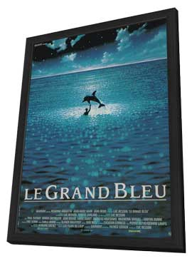 The Big Blue - 11 x 17 Movie Poster - French Style B - in Deluxe Wood Frame