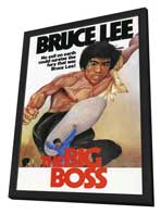 The Big Boss - 27 x 40 Movie Poster - Style B - in Deluxe Wood Frame