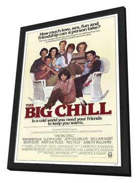 The Big Chill - 11 x 17 Movie Poster - Style C - in Deluxe Wood Frame