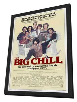 The Big Chill - 27 x 40 Movie Poster - Style C - in Deluxe Wood Frame
