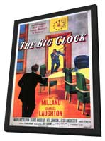 The Big Clock - 11 x 17 Movie Poster - Style A - in Deluxe Wood Frame