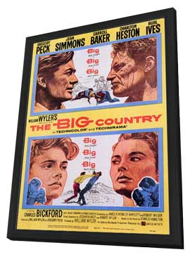 The Big Country - 11 x 17 Movie Poster - Style A - in Deluxe Wood Frame
