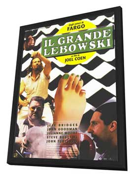 The Big Lebowski - 27 x 40 Movie Poster - Italian Style A - in Deluxe Wood Frame