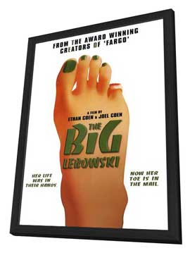 The Big Lebowski - 27 x 40 Movie Poster - Style C - in Deluxe Wood Frame