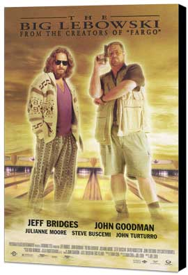 The Big Lebowski - 11 x 17 Movie Poster - Style B - Museum Wrapped Canvas