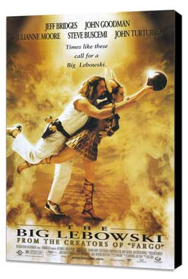 The Big Lebowski - 27 x 40 Movie Poster - Style A - Museum Wrapped Canvas