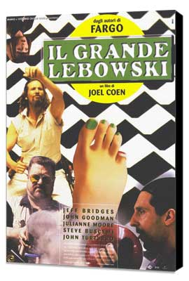 The Big Lebowski - 27 x 40 Movie Poster - Italian Style A - Museum Wrapped Canvas
