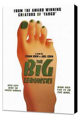 The Big Lebowski - 27 x 40 Movie Poster - Style C - Museum Wrapped Canvas