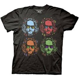 The Big Lebowski - Four Faces of The Dude Black T-Shirt