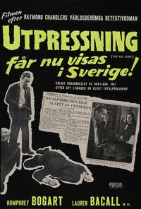 The Big Sleep - 27 x 40 Movie Poster - Swedish Style A