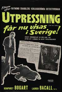The Big Sleep - 11 x 17 Movie Poster - Swedish Style A