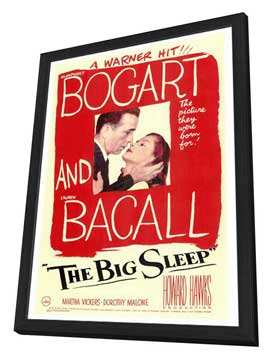 The Big Sleep - 27 x 40 Movie Poster - Style A - in Deluxe Wood Frame