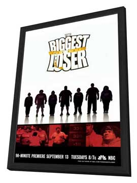 The Biggest Loser - 11 x 17 TV Poster - Style A - in Deluxe Wood Frame
