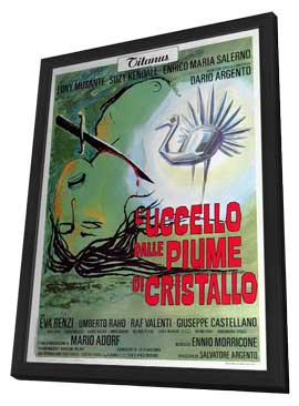The Bird with the Crystal Plumage - 11 x 17 Movie Poster - Italian Style A - in Deluxe Wood Frame