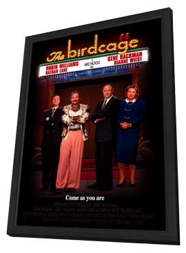 The Birdcage - 27 x 40 Movie Poster - Style A - in Deluxe Wood Frame