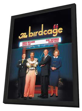 The Birdcage - 11 x 17 Movie Poster - Polish Style A - in Deluxe Wood Frame