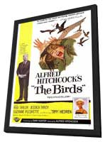 The Birds - 11 x 17 Movie Poster - Style A - in Deluxe Wood Frame
