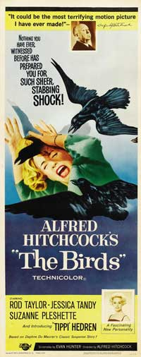 The Birds - 14 x 36 Movie Poster - Insert Style B
