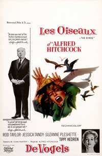 The Birds - 11 x 17 Movie Poster - French Style A
