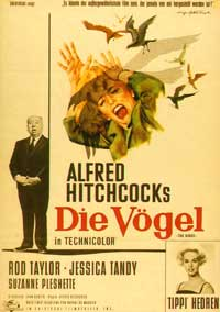 The Birds - 11 x 17 Movie Poster - German Style B