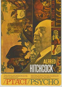 The Birds - 11 x 17 Movie Poster - Czchecoslovakian Style A