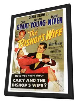 The Bishop's Wife - 27 x 40 Movie Poster - Style A - in Deluxe Wood Frame