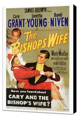 The Bishop's Wife - 27 x 40 Movie Poster - Style A - Museum Wrapped Canvas