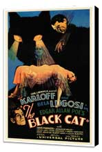 The Black Cat - 27 x 40 Movie Poster - Style A - Museum Wrapped Canvas