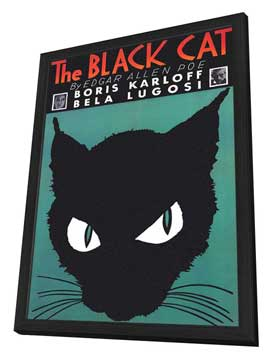 The Black Cat - 11 x 17 Movie Poster - Style D - in Deluxe Wood Frame