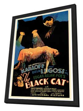 The Black Cat - 27 x 40 Movie Poster - Style A - in Deluxe Wood Frame