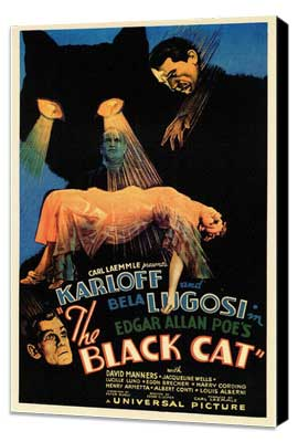 The Black Cat - 11 x 17 Movie Poster - Style A - Museum Wrapped Canvas