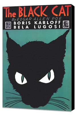 The Black Cat - 11 x 17 Movie Poster - Style D - Museum Wrapped Canvas