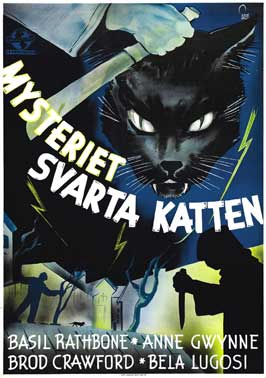 The Black Cat - 11 x 17 Movie Poster - Swedish Style A