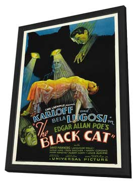 The Black Cat - 11 x 17 Movie Poster - Style A - in Deluxe Wood Frame