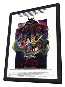 Black Cauldron, The - 27 x 40 Movie Poster - Style A - in Deluxe Wood Frame