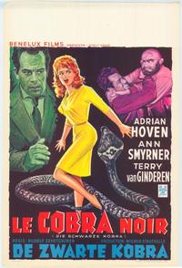 The Black Cobra - 11 x 17 Movie Poster - Belgian Style A