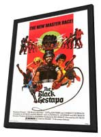 The Black Gestapo - 11 x 17 Movie Poster - Style A - in Deluxe Wood Frame