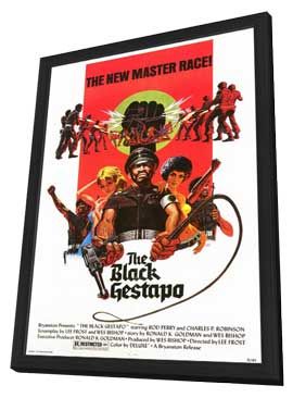The Black Gestapo - 27 x 40 Movie Poster - Style A - in Deluxe Wood Frame